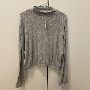 ✨2/$25✨NWT Garage Mock Neck Knit Bubble Sweater